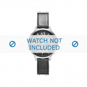 Armani watch strap AX-5303 Leather Black 16mm