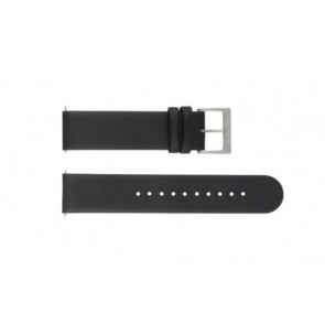 Mondaine watch strap BM20001 / FE16220.20Q Leather Black 20mm