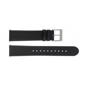 Mondaine watch strap BM20098 / FE16822.20Q.XL Leather Black 22mm