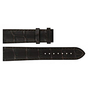 Certina watch strap C610016931 Leather Dark brown 20mm + brown stitching