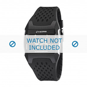 Calypso watch strap K5563 Rubber / plastic Black