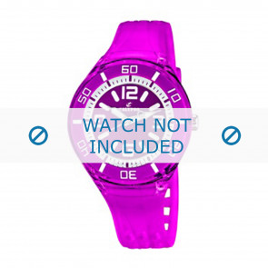 Calypso watch strap K5588/6  Rubber / plastic Purple
