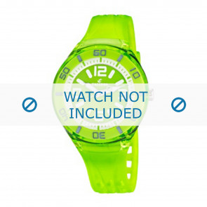 Calypso watch strap K5588/7  Rubber / plastic Green