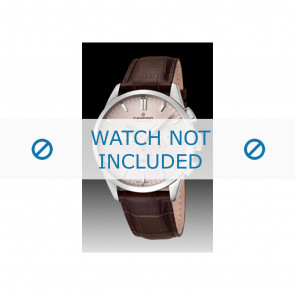 Candino watch strap C4517-1 Leather Brown + brown stitching
