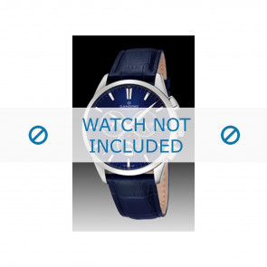 Candino watch strap C4517-3 Leather Blue + blue stitching