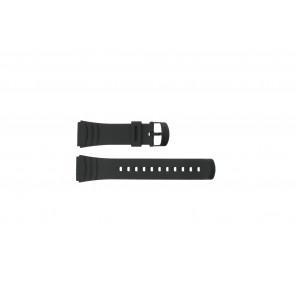 Casio watch strap DBC-32C-1BW Rubber Black 22mm