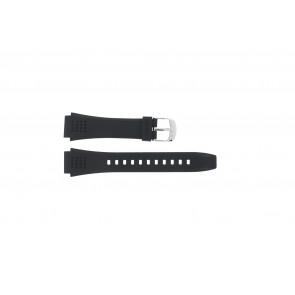 Casio watch strap EFA-124-1AVW Rubber Black 20mm