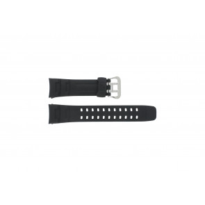 Casio watch strap G-7400-1V Rubber Black 16mm