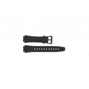 Casio watch strap AQ-160W-1BV Silicone Black 17mm