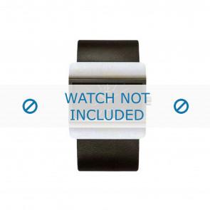 Calvin Klein watch strap K52211.04 / K600058403 Leather Black