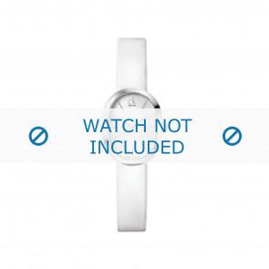 Calvin Klein watch strap K37232 Leather White