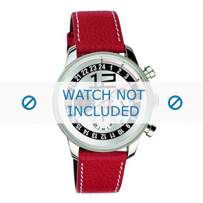 Dolce & Gabbana watch strap 3719740276 Leather Red + white stitching