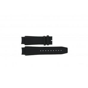 Dolce & Gabbana watch strap 3719770097 Leather Black 20mm + black stitching
