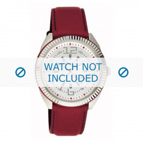 Dolce & Gabbana watch strap DW0032 Leather Red 20mm + red stitching