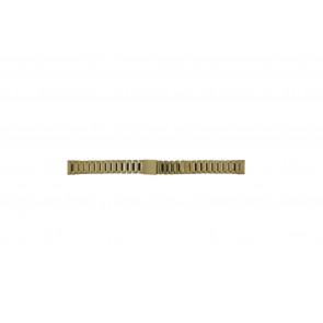 Morellato watch strap D0152025 Steel Gold (Doublé) 14mm