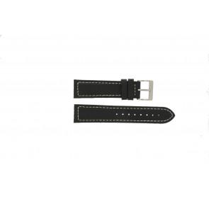 Davis watch strap BB1020 Leather Black 22mm