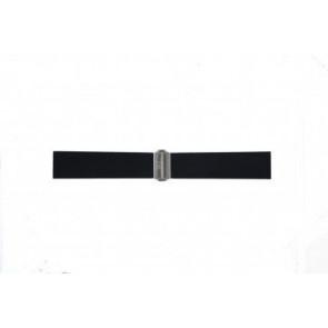 Davis watch strap BB0881 Rubber Black 22mm