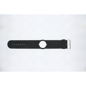 Jacques Lemans watch strap DC500 Leather Black