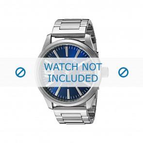 Diesel watch strap DZ1763 Metal Silver 24mm