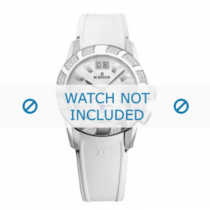 Edox watch strap 62005 Silicone White