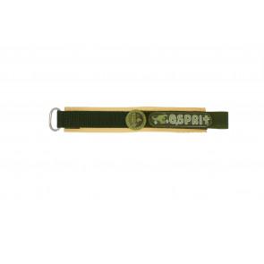 Esprit watch strap ES101333002U Velcro Green 16mm + brown stitching