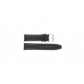 Festina watch strap F16081 / 7 Leather Black 22mm