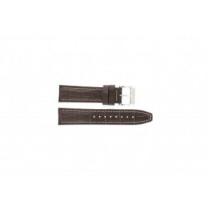 Festina watch strap F16081/8 Leather Brown 22mm + white stitching