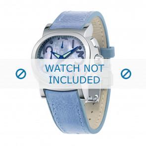 Festina watch strap F16125.2 Leather Blue 23mm + blue stitching