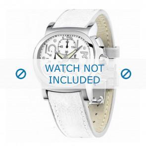 Festina watch strap F16125.7 Leather White 23mm + white stitching