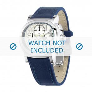 Festina watch strap F16125.1  Leather Blue 23mm + blue stitching