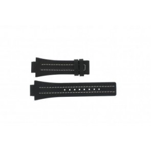 Festina watch strap F16185 / 1 Leather Black 16mm + white stitching
