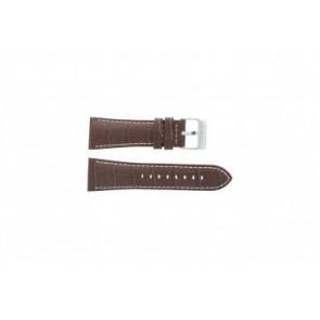 Festina watch strap F16235/15 Leather Brown 28mm + white stitching