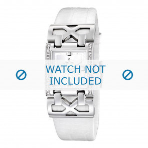 Festina watch strap F16465-1 / F16465-4 Leather White