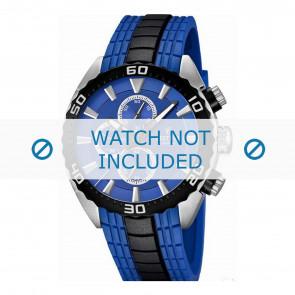 Festina watch strap F16664/6  Rubber / plastic Blue 23mm