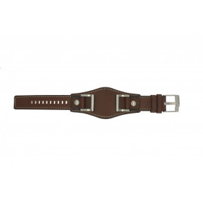 Fossil watch strap JR1157 Leather Brown 24mm + default stitching