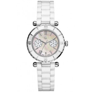Guess watch strap GC35003L Ceramics White