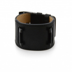 Guess watch strap W10265G1 / W0418G2 Leather Black 32mm + black stitching