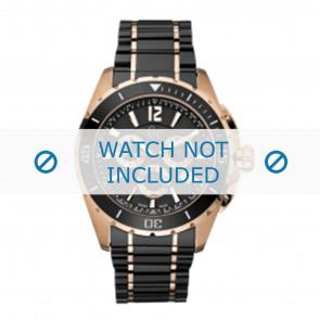 Guess watch strap GC55000G Ceramics Black