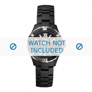 Guess watch strap X69002L2S / X69004L2S Ceramics Black