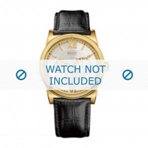 Hugo Boss watch strap 1512590 / HB-127-1-34-2301 / HB659302290 Leather Black 23mm + black stitching