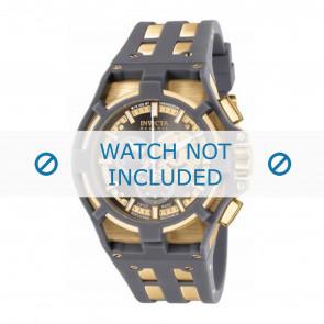 Invicta watch strap 0637-01 Rubber / plastic Grey