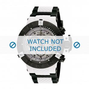 Invicta watch strap 0933 Rubber / plastic White 29mm