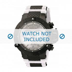 Invicta watch strap 11840 Rubber / plastic White