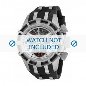 Invicta watch strap 17464 Rubber / plastic Black