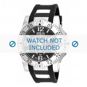 Invicta watch strap 18202.01  Rubber Black