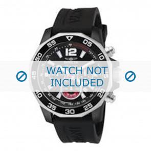 Invicta watch strap 7433 Rubber Black 22mm