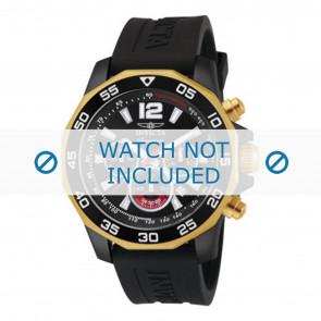 Invicta watch strap 7434 Rubber Black 22mm