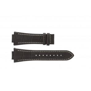 Jaguar watch strap J625/4 / J620 / J620-4 Leather Brown 28mm + white stitching