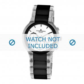 Jacques Lemans watch strap 1-1580B Ceramics Silver