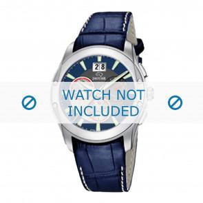 Jaguar watch strap J615-2 Leather Blue 22mm + white stitching
